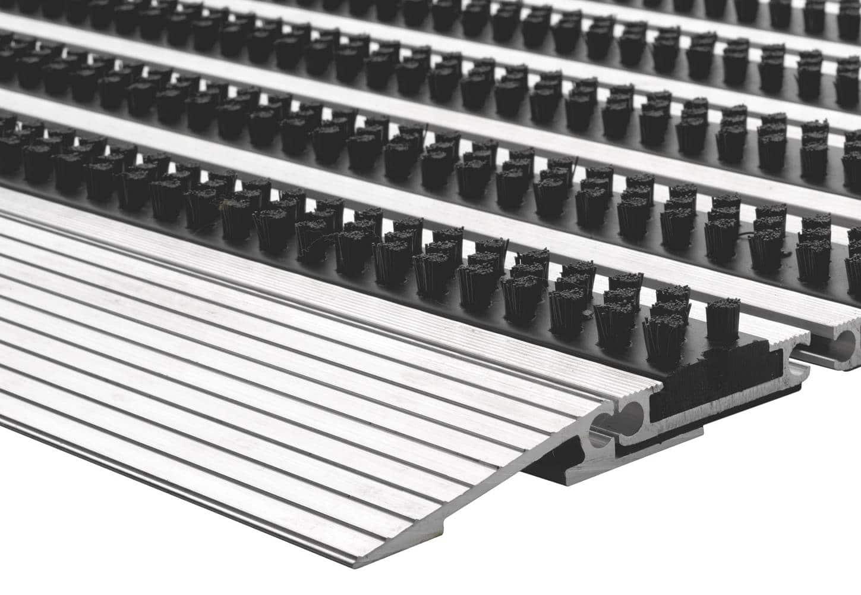 Pasklare borstelmat - 50x80cm Top-line zwart