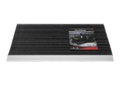 Pasklare borstelmat - 50x80cm Outline antraciet