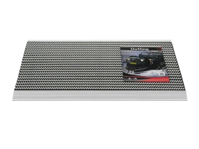 Pasklare borstelmat - 50x80cm Outline lichtgrijs