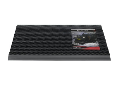 Pasklare borstelmat - 50x80cm Outline zwart