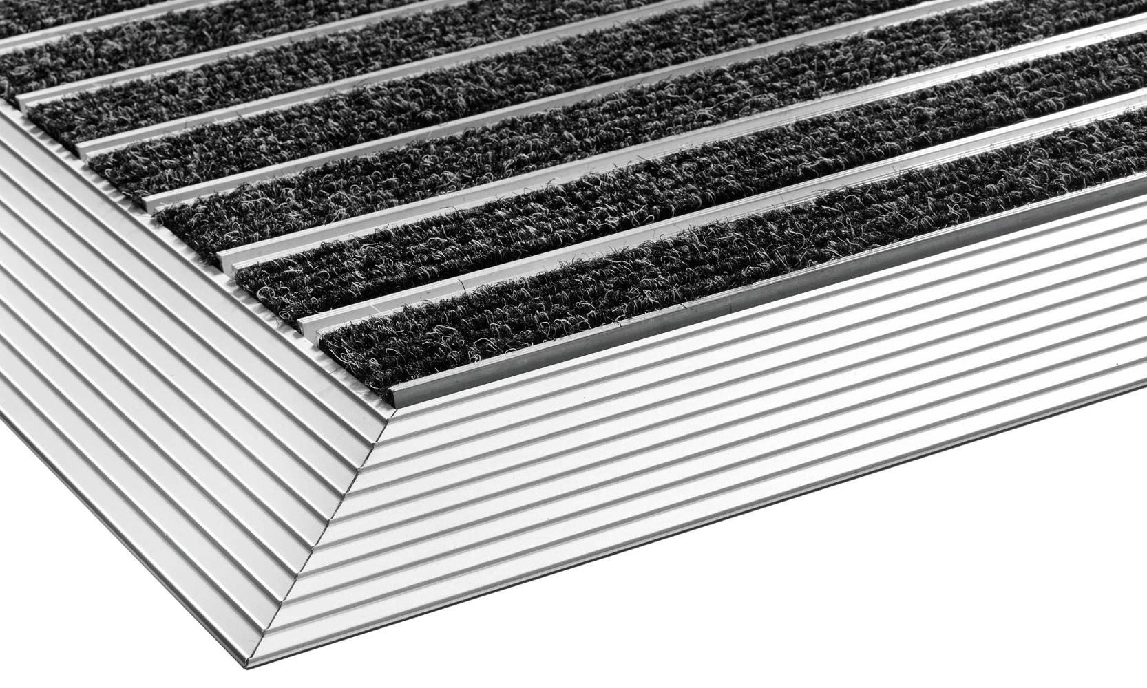 Pasklare borstelmat - 45x75cm Profi-line zwart