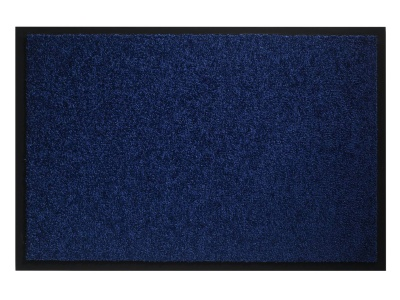 Pasklare droogloopmat - 90x150cm Twister cobalt