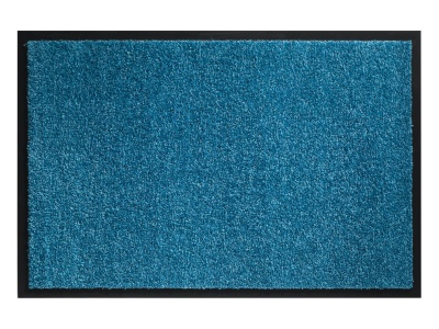 Pasklare droogloopmat - 90x150cm Twister turquoise